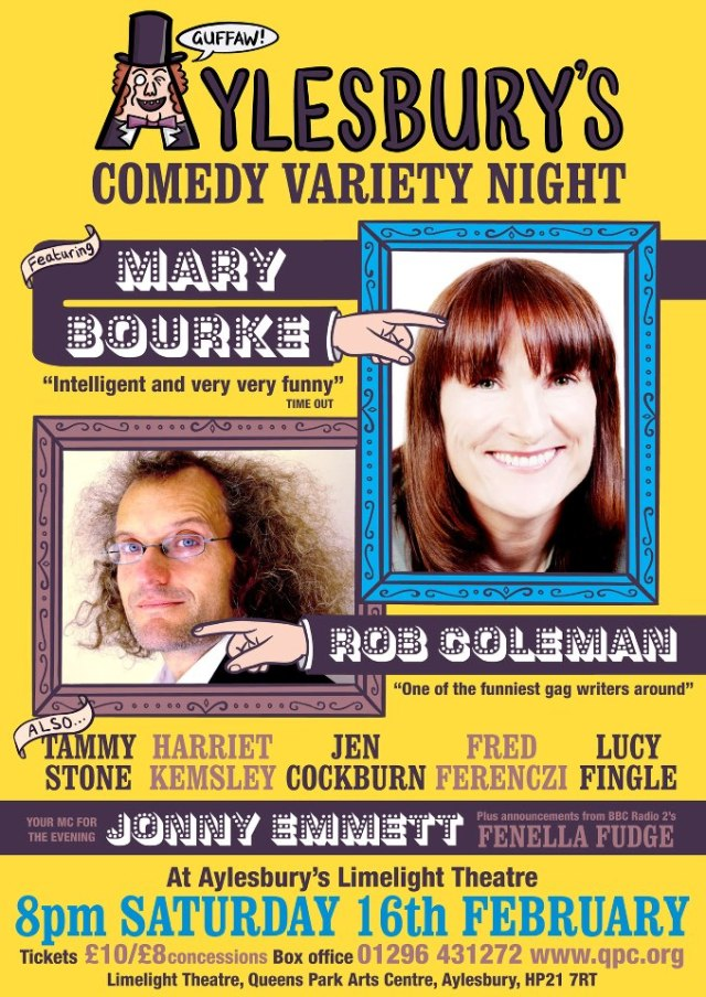 aylesbury comedy variety night 16 feb